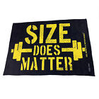 Gym Sweat Microfiber Sports Towel Bodybuilding Funny - Size Does Matter Swps