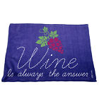 Kitchen Cooking Tea Towels - Wine Is Always The Answer - Cooking Cleaning