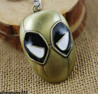 Marvel Deadpool LOGO Alloy Key Chain Metal Key Ring Pendant Accessories Gifts