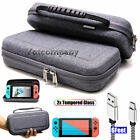 For Nintendo Switch Travel Carrying Case Gray Bag 2M Charging Cable Clear Screen