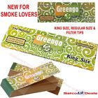 GREENGO Rolling PAPERS & FILTER TIPS King Size Slim Chlorine Free Unbleached NEW
