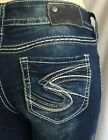 New Silver Jeans SUKI Mid-Rise Skinny Leg Inseams 31 Good Price! 90114A