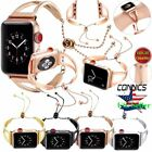 Stainless Steel Wrist Band Bangle Cuff Bracelet Strap for Apple Watch Series 4-1 image