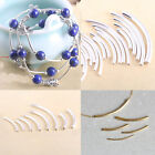 Silver Gold Plate Curved Smooth Tube Bead Charm Spacer Jewelry Making Wholesale