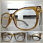 Classic Vintage Retro Style RX Able READING GLASSES READERS Brown Optical Frame