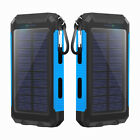 Water-Resistant 500000mAh Dual USB Portable Battery Charger Solar Power Bank UP