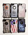 Camo Case For iPhone 6S & 6S Plus With (Clip fits Otterbox Defender)
