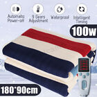 'Electric Heated Throw Over Under Blanket Flannel Warm Mattress 3 Heat Settings