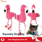 Dog Soft Squeaky Cloth Toy Pet Puppy Squeaker Plush Training Cotton Rope Bite