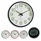 Large Non-Ticking Wall Clock Glow In The Dark Silent Quartz Home Office Decor CH