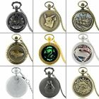 Antique Steampunk Pocket Watch Vintage Quartz Necklace Chain Pendant Retro Gift image
