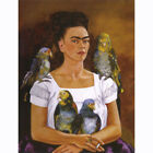 Painted Painting Wall Decor Me and My Parrots by Kahlo Frida Multi Sizes P512