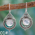 New Turquoise Fashion Crystal Silver Hook Pendant Earrings Valentine's Day Gifts