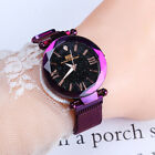 Women Luxury Watch Starry Sky Diamond Dial Bracelet Watches Magnetic Stainless image