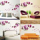Falling Flower Orchid Magnolia Diy Wall Decal Sticker Bedroom Living Room Decor
