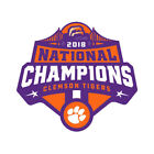 Clemson Tigers Paw 2018 NATIONAL CHAMPIONS Sticker Self Adhesive Vinyl <br/> We Only Use The BEST Vinyl and Equipment Available.