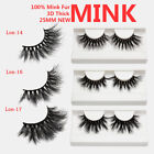 25mm Natural False Eyelashed Thick Fake Eye Lashes Extension 100% Real 3D Mink