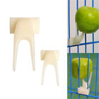 2x Birds Parrots Fruit Fork Pet Supplies Plastic Food Holder Feeding On Cage _A