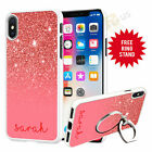 Personalised Phone Case Cover & Finger Ring Stand Holder For Top Mobiles 073-7