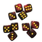 10Pcs 12mm Acrylic Spot 6 Sided Dice D6 For Portable Table Games Party Tools US