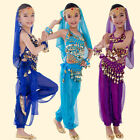 Children Belly Dancing Costume Girls Indian Dance Carnival Bollywood Kid Outfits