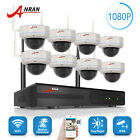 1080P WIFI Wireless Security Camera System with 4TB Hard Drive Vandal-proof IPC