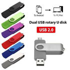 2 in 1 USB 2.0 Flash Pen Drive Memory Stick U Disk For OTG Phone/Laptop PC lot