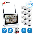 1080P Wireless Security Camera System with 12'' NVR 2TB Hard Drive Vandal-proof