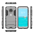 For Motorola Moto G6 / G6 Plus - Tough Shock Proof Slim Custom Fit Case + Stand