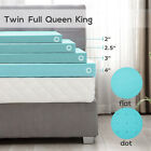 2/2.5/3/4'' Comfort Gel Memory Foam Mattress Cover Topper Twin Full Queen King image