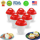 Egg Cooker Hard & Soft Boiled Eggs without Shell 1-12 pcs Non Stick Egg Boil Cup