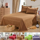 6D9C Bed Sheet Solid Color Flat Sheet Bedding High-Grade Bedsheet Three Sizes image