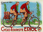 Cycle Touriste Tandem Vintage Bicycle Poster Print Cycling