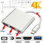 New USB 3.1 Type C to USB-C 4K HDMI USB 3.0 Hub Adapter Cable For Apple Macbook