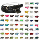 WOMEN/LADIES Skinny Leather Belt 4 sizes Available S/M/L/XL - 52 COLORS in Stock