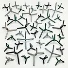 100 Small Caltrops - Road Tire Spikes Stars Immobilizers - 5 colors  Heavy Steel