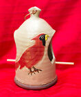 Made-in-the-USA Hand-Painted Stoneware Seed or Suet Bird Feeder by Walt Schmidt