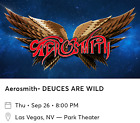 2 TICKETS AEROSMITH MGM PARK THEATER LAS VEGAS 9/26/19 10th row! Sec 103 Row J