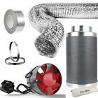 Extraction Fan & Carbon Filter Ducting Kit Odour  Hydroponics Grow Tents Smell