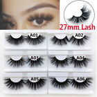 Wispy Fluffy 27mm Lashes False Eyelashes Thick Long  5D Mink Hair Eye Lashes