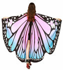 Multicolor Soft Fabric Butterfly Wings Shawl Fairy Nymph Pixie Party Costume