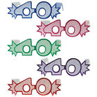40TH BIRTHDAY AGE GLITTERED FOIL SPECTACLES, 4 COLOURS, PARTY GLASSES