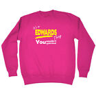 Funny Kids Childrens Sweatshirt Jumper - Edwards V1 Its A Surname Thing