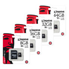 Kingston 8GB 16GB 32GB 64GB 128GB Class 4 SDHC Micro SD Memory Card + Adapter