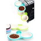 Pets Dog Puppy Hanging Double Food Water Bowl Feeder For Crate Cage Coop