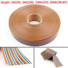 10 12 14 16 20 26 30 34 40Pin Color Rainbow Ribbon Wire Cable Flat 127mm T2