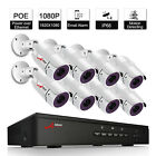 8CH PoE Home Security 1080P Home Surveillance Security IP Camera System Network