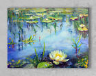 Impressionism nature landscape oil canvas painting green blue hand-painted art