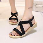 6b84eb3c1bf1 Lady Slippers Sandals Shoes Casual Flat Low Heel Flip Flops Boho Thong  Bohemia