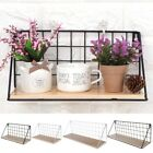 Wooden Iron Storage Holders Shelf Wall Hanging Storage Racks Home Decoration